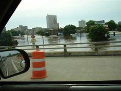 Iowa's Cedar Rapids flood on the Cedar river.  2008