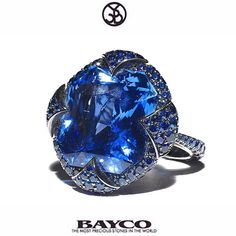 """""""Bayco Monochrome Blue..... Square sapphire, meticulous design and craftsmanship.... The most precious stones in the world. #Bayco #BaycoJewels…"""""""
