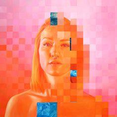 """envelope"" - 40""x40"" oil on canvas by Jen Mann"