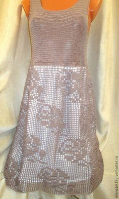 Платья ручной работы. Ярмарка Мастеров - ручная работа. Купить ГОТОВОЕ Ажурное платье, связанное крючком. Handmade. Коричневый
