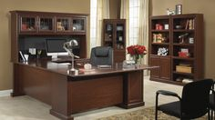 Charming Office Desk With Bookshelf   Luxury Home Office Furniture Check More At  Http://