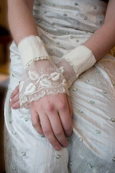 Lace wedding cuffs