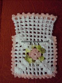 Crochet motif for tunic blouse dress VERY EASY free pattern tutorial - Crochet Shawlette Crochet Sachet, Crochet Pouch, Crochet Purses, Crochet Gifts, Filet Crochet, Crochet Doilies, Crochet Home, Diy Crochet, Crochet Baby