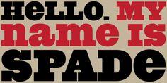 Spade™ font download