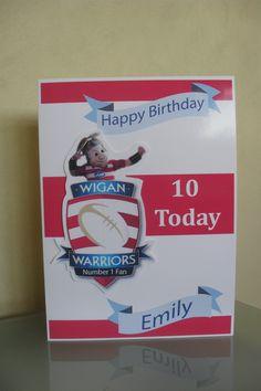 Wigan Rugby birthday card