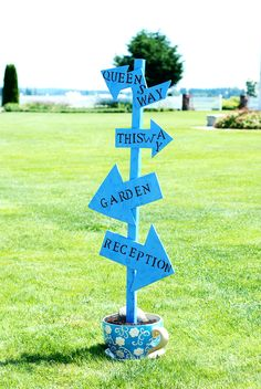 How many of you have dreamed of a wedding that will have beautiful gardens, flowers and colorful decorations like in Alice in wonderland? Well, you can make your dreams come true by setting the the… Outdoor Wedding Decorations, Wedding Themes, Wedding Signs, Wedding Ideas, Wedding Stuff, Alice In Wonderland Wedding Theme, Disney Prom, Bridal Shower Rustic, Fall Wedding Colors
