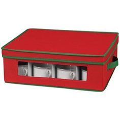 RED AND GREEN CHINA AND CRYSTAL STORAGE BOXES | Get Organized
