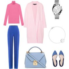 A fashion look from May 2017 featuring turtleneck sweater, pink coats and Emilio Pucci. Browse and shop related looks. Cool Summer Palette, Deep Autumn Color Palette, Business Casual Outfits For Women, Stylish Outfits, Fashion Outfits, Womens Fashion, Work Outfits, Minimalist Wardrobe Essentials, Wardrobe Basics