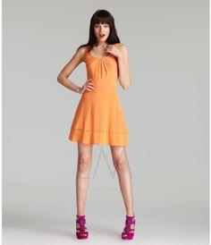 LM Collection 2013 Fall Dresses - Orange Short Summer Dress - Unique Vintage - Prom dresses, retro dresses, retro swimsuits.