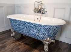 Мозаика в интерьере ванной комнаты - 120 фото новинок дизайна