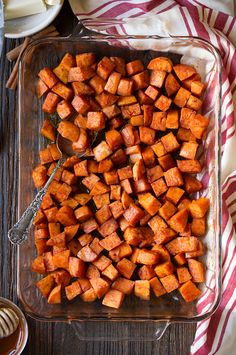 Cinnamon Honey Butter Roasted Sweet Potatoes - Cooking Classy