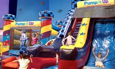 Groupon - 5 or 10 Pop-In Playtime Sessions at Pump It Up (Up to 56% Off) in Elkridge. Groupon deal price: $20