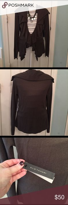 Elie Tahari Demsy Sweater Beautiful, light sweater- perfect for transitioning seasons. Made of 85% Silk and 15% Cashmere- feels dreamy on!! Elie Tahari Sweaters Cardigans