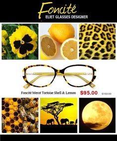14ebc0125ebe Foncité elite designer glasses;women tortoise shell amp lemon eyewear  95   women  chic.