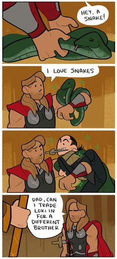 A comic of a story told by Thor in the movie Thor Ragnarok