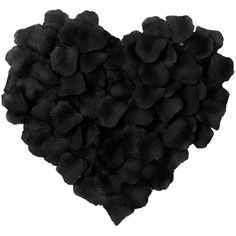 Simplicity 500pcs Silk Flower Rose Petals Wedding Party Decoration,... ❤ liked on Polyvore featuring home, home decor, floral decor, black artificial flowers, black silk flowers, black home decor, black fake flowers and black home accessories