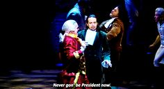 Well, he's never gon' be President now / [MADISON/BURR] / Never gon' be President now – The Reynolds Pamphlet Lyrics Meaning
