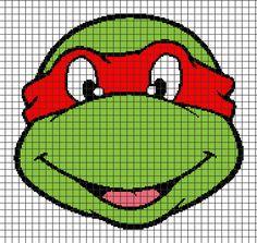 Teenage Mutant Ninja Turtles – Raphael (Chart/Graph AND Row-by-Row Written Crochet Instructions) – 03 — YarnLoveAffair.com