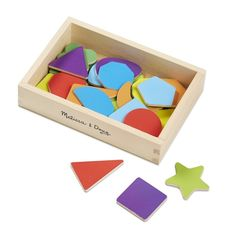 Melissa and Doug 25 Wooden Magnetic Shape Magnets In A Box - New in Toys & Games, Pre-School & Young Children, Wooden Toys   eBay