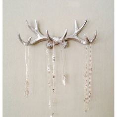 SILVER Faux Deer Antler Rack on Sale 50% off. Free Shipping | 9thelm.com