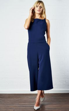 86d7fe37a802 Elizabeth Navy Culotte Jumpsuit by Never Fully Dressed Fashion 2018