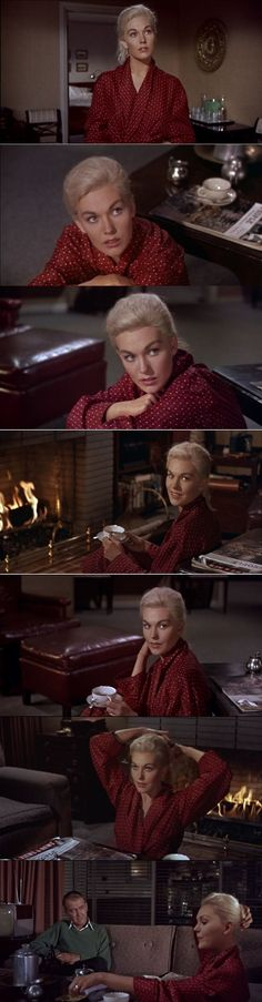 Scottie's guest Madeleine Elster, played by Kim Novak Vertigo 1958