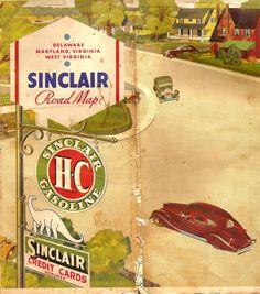 vintage gas station map