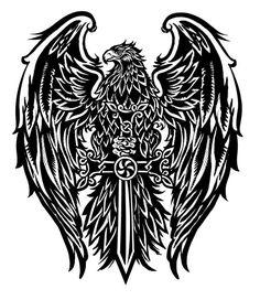 More Eagle Tattoo Designs photo - 1 Music Tattoos, Body Art Tattoos, New Tattoos, Sleeve Tattoos, Tattoos For Guys, Cool Tattoos, Tatoos, Wing Tattoo Men, Cross Tattoo For Men