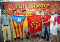 Pais Nostre solidaire avec la Catalogne - La Dépêche. En prévision de la grande chaîne humaine qui va traverser le pays Catalan, du Roussillon au sud de la Catalogne, le mercredi 11 septembre prochain (date symbolique pour les Catalans), pour réclamer l'autodétermination du peuple Catalan et l'organisation d'un référendum sur la question Catalane, mouvement organisé par l'Assemblée Nationale Catalane, Pais Nostré organisait hier matin une conférence de presse au Café de la Poste. #Catalogne