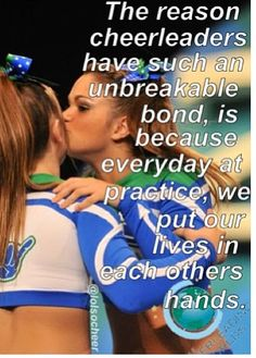 The one thing I miss more than anything in the world is cheerleading.