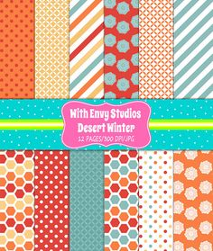 50% OFF Fall Digital Scrapbook Paper Pack, Winter, Digital Paper Pack, Hexagon Paper Pack, Floral Paper, Instant Download