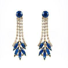 http://rubies.work/0611-emerald-rings/ Harlequin Market Austrian Crystal Sapphire Earrings