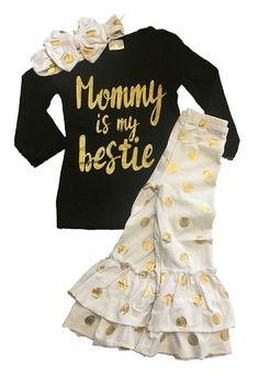 MOMMY IS MY BESTIE BOUTIQUE OUTFIT*Includes Outfit Only*
