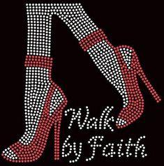 Bling Breast Cancer Walking By Faith Rhinestone Iron on Transfer Bling Quotes, Motifs Perler, Breast Cancer Walk, Rhinestone Transfers, Rhinestone Crafts, Walk By Faith, Women Legs, Applique Dress, Godly Woman