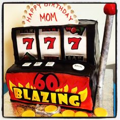 Happy Birthday Slot Machine | Slot Machine 60th Birthday Cake