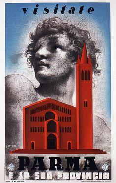 Carlo Mattioli. Visit Parma. 1937   #TuscanyAgriturismoGiratola