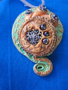 polymer clays dichroic glass, charm