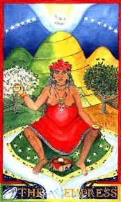 The Wheel of Change Tarot, di Alexandra Genetti, the Empress. Adoro sia le carte che il libro che le accompagna: un vero e proprio testo di studio per gli archetipi e i simboli contenuti nei Tarocchi!