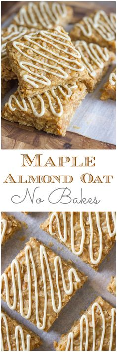 Maple Almond Oat No Bakes