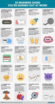 durdelafeuille: Les 20 signes du burn out Source