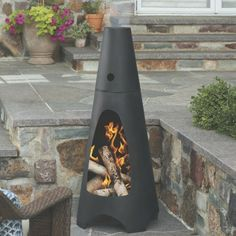 Threshold Chiminea  $99.99 + free shipping!  Love this modern chiminea!