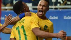 Olympic Football: Brazil thrash Denmark to make last eight