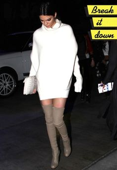 Kendall rocks the game in thigh-high boots