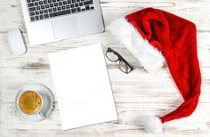 Office Desk Christmas Decoration by LiliGraphie on @creativemarket