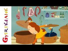 A gúnárom elveszett (gyerekdal, rajzfilm gyerekeknek) - YouTube