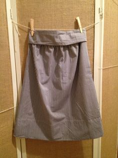 S/M Blue and White Striped High Waist Elastic by BriscoeDesigns, $15.00 ...LIMITED TIME SALE!