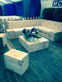 Banque d\'accueil ECO MOBILIER bois de palette recyclé | Paolette ...