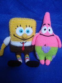 Amigurumi SpongeBob Squarepants & Patrick Star