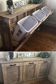 Simple laundry storage
