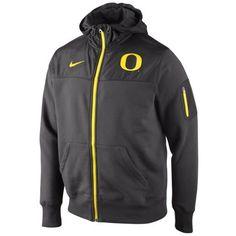 6ee205bed6ac Nike Oregon Ducks Stealth Full Zip Hooded Jacket - Charcoal
